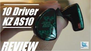 REVIEW: KZ AS10 - Crazy 10 Driver IEM HiFi Earbuds!