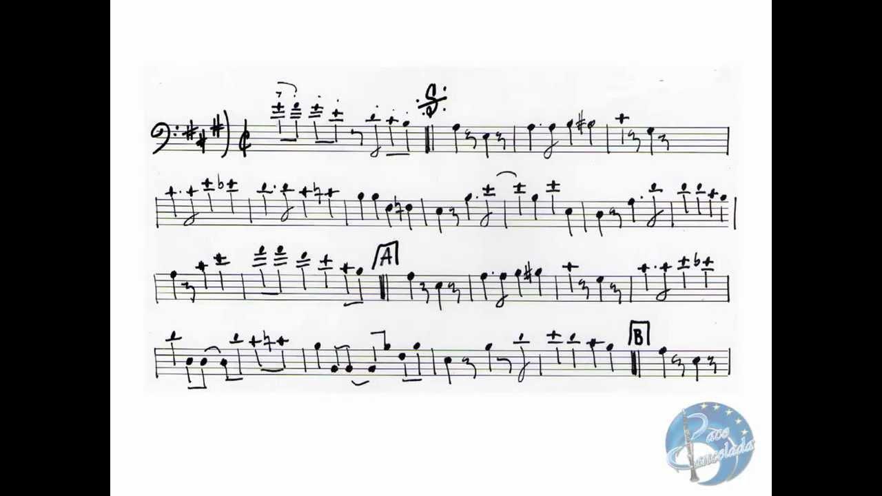 Análisis armónico de una partitura para tuba de banda