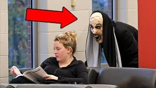 """THE NUN"" Scare Prank at School!"