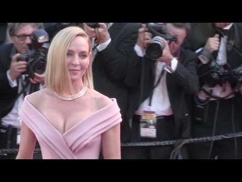 Uma Thurman, President of the Jury for Un Certain Regard on the red carpet in Cannes thumbnail