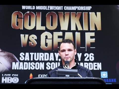 Gennady Golovkin VS. Daniel Geale POST Fight Press Conference (GEALE) Image 1