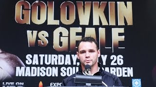 Gennady Golovkin VS. Daniel Geale POST Fight Press Conference (GEALE)