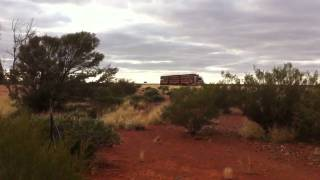 Tanami transport roadtrains at Cadney roadhouse