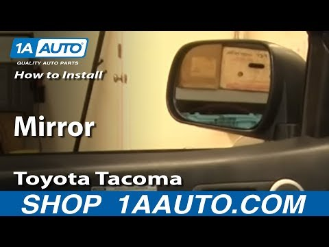 How To Install Replace Side Rear View Mirror Toyota Tacoma 05-12 1AAuto.com