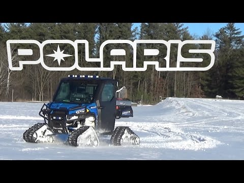 Polaris Ranger 900 Camoplast Tracks in some Snow