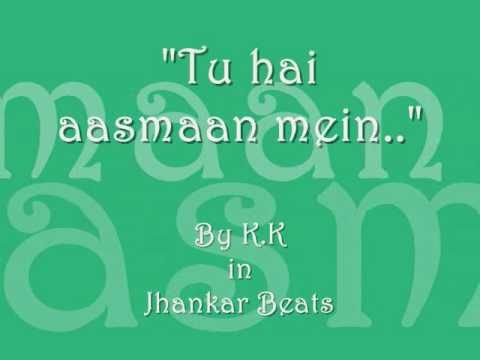 Tu Hai Aasmaan Mein (jhankar Beats) - Lyrics video