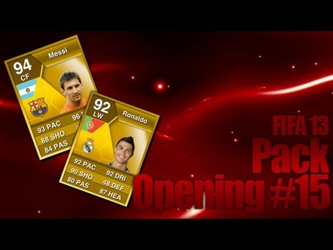 FIFA 13 Ultimate Team Live Pack Opening #15 [Facecam] : Road to Ronaldo & Messi IF 1/2  HD