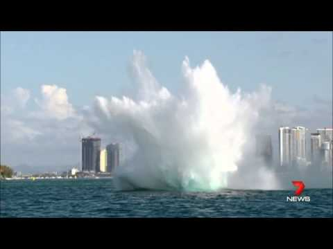 7NEWS Melbourne 20150822 Power Boat & Red Ball