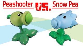 Plants vs. Zombies Pea Shooter Popper vs. Snow Pea Shooter Popper