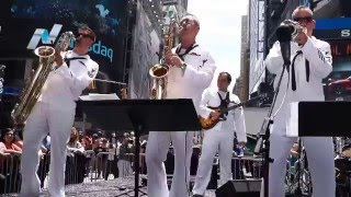 Navy Band Northeast Brass Times Square Memorial Weekend 2015