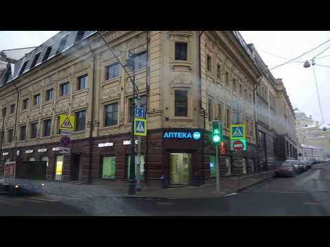 . Новогодняя Москва 2018. Поездка по центру города на дорогом автомобиле