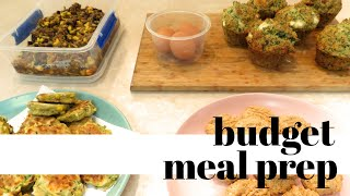 Budget meal prep in under 2 hours! | Zucchini fritters | Protein cookies | Mexican mince and MORE!
