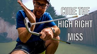 STOP THE HIGH RIGHT GOLF SHOT