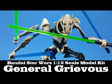 Bandai Star Wars General Grievous Model Kit Build and Review 1/12 Scale
