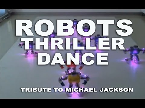 Robots Thriller Dance - Tribute to Michael Jackson