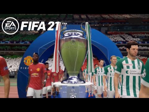 Fifa 21: Champions League; Das grosse Finale, FC St.Gallen-Manchester United [Gameplay][Deutsch]