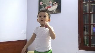 BỐNG BỐNG BANG BANG - Bé 3 tuổi thể hiện làm ISAAC và NHÓM 365 choáng váng