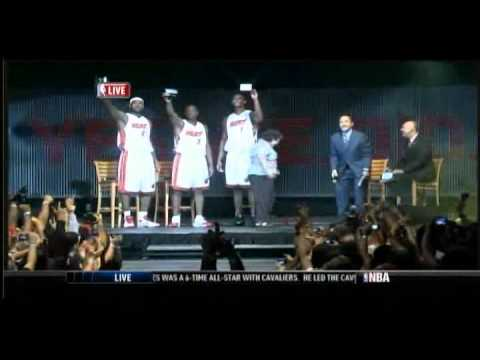 Miami Heat Welcome Party for Wade, James and Bosh (1/2) (Full)