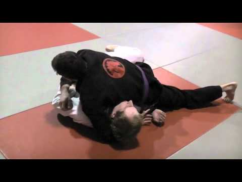 Guillotine Submission From Top Half Guard - BJJ Image 1