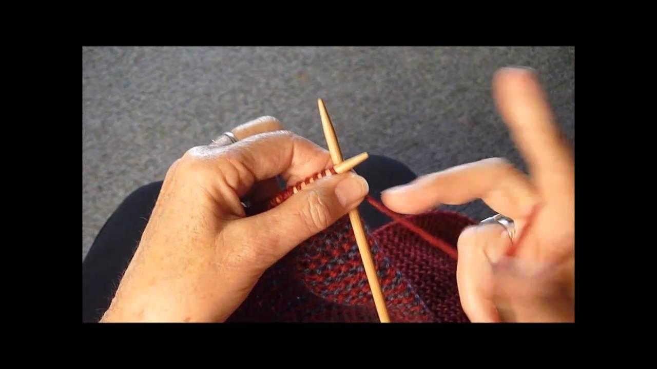 Knitting Lifeline Hole : Knit a key hole in scarf youtube