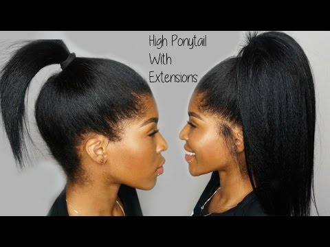 High Ponytail using Clip ins Ft. KnappyHair Extensions