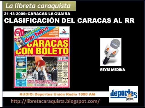 Narración del hit de Marwin González con el que se rompe el empate en el 9no. El último out del juego con el que Caracas clasifica al RR. Y las entrevistas a...