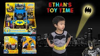 Imaginext BATMAN Robo Batcave Bane Suit The Penguin with Launcher Toy Unboxing Review and Play