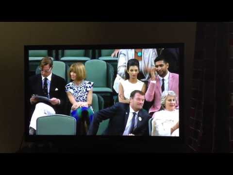 Amir Khan And Faryal Makhdoom At Wimbledon video
