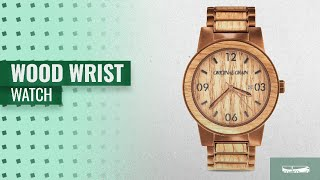 Original Grain Wood Wrist Watch Collection: Original Grain Wood Wrist Watch | Barrel Collection 47MM