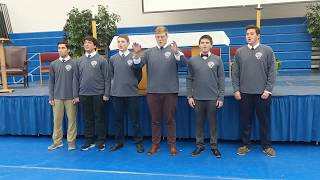 """Catholic Central Student Choir Sings """"Mary, Alma Mater"""""""