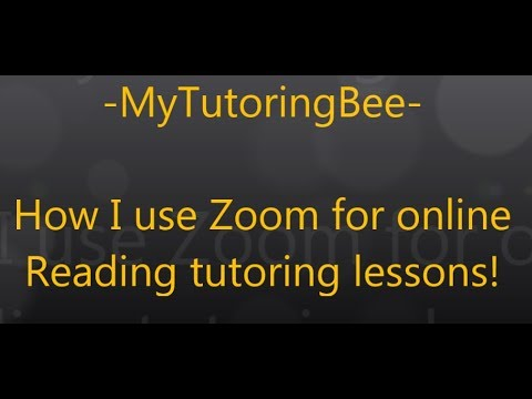 How I Use Zoom To Tutor Reading Online!
