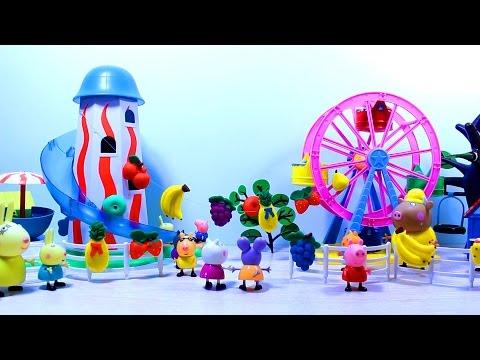 свинка пеппа  Набор  Fresh Fruit - Play  Doh. Мультфильм с игрушками