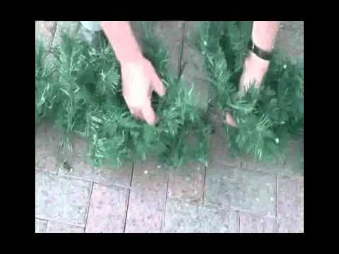 How To Hang A Christmas Garland With Ease Youtube