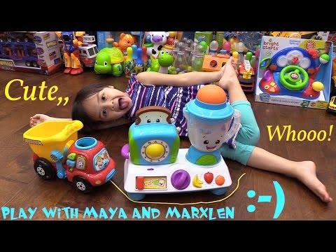 Educational Toys for Kids: Maya's Kitchen Play Set and Marxlen's Drop & Go Dump Truck Toy