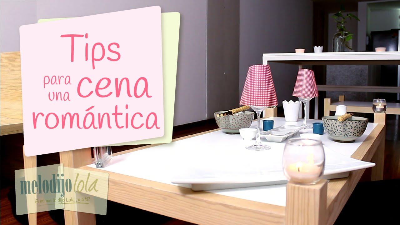 Tips para una cena rom ntica c mo preparar una cena - Ideas romanticas para hacer en casa ...