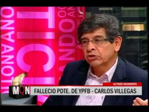 24/01/2014 - 20:00 FALLECIO PRESIDENTE DE YPFB CARLOS VILLEGAS