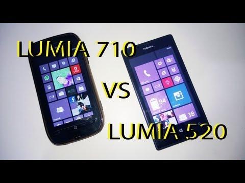 Nokia Lumia 710 Windows Phone 7 vs Lumia 520 Windows Phone 8 Português!