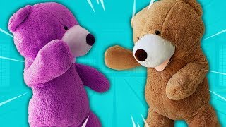*REAL LIFE* Climb Inside GIANT Teddy Bear Boxing Match!!