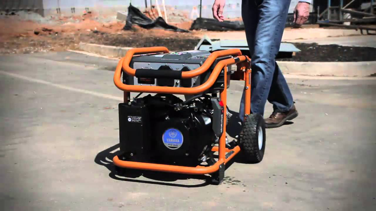 Ridgid 5700 watt yamaha 301 cc gas powered portable for Ridgid 6800 watt generator with yamaha engine