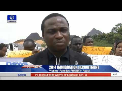 2014 Immigration Recruitment Victims' Families Protest In Abuja 11/10/15