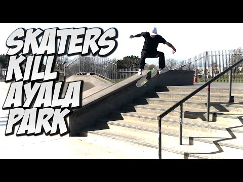 SKATERS KILL AYALA SKATE PARK !!! - A DAY WITH NKA -