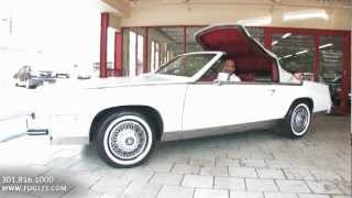 1985 Cadillac Eldorado Biaritz convertible test drive, walk through video