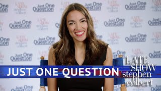 Just One Question With Rep. Alexandria Ocasio Cortez