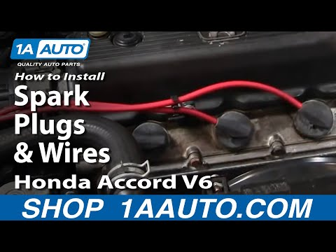 How To Install Replace Spark Plugs and Wires Honda Accord V6 95-97 1AAuto.com