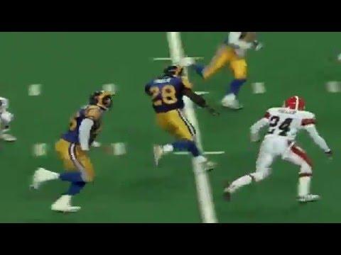 Marshall Faulk S Incredible Touchdown Run Browns Vs Rams 1999