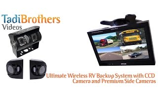 Wireless Backup Camera Systems with split screen monitors for Travel Trailer, RV's, Commercial Cars