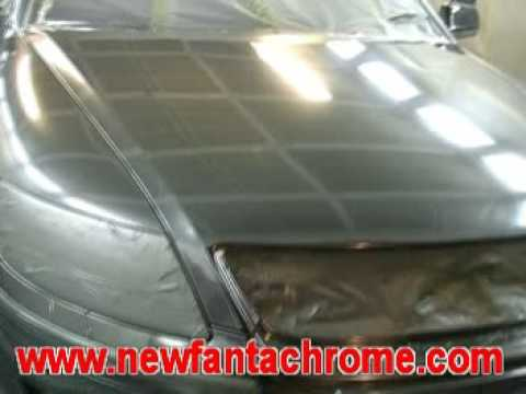pheaton chrome vw - spray paint application demo
