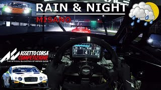 Assetto Corsa Competizione - RAIN & NIGHT | Bentley Continental GT3 @ Misano [Release 2 + OSW]