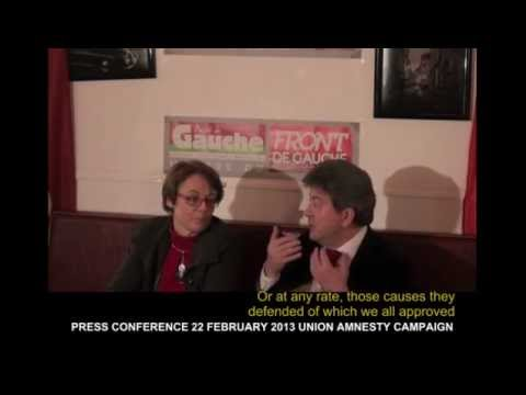 J-L MELENCHON Pt 1 22 FEB 2013 PRESS CONFERENCE UNION AMNESTY English subtitles
