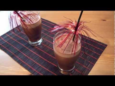 Batido de chocolate casero con batidora de vaso o con Thermomix